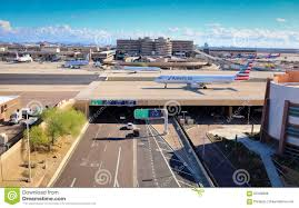 Phoenix Sky Harbor Terminal 4 Map by American Airlines At Phoenix Sky Harbor Airport Editorial Photo
