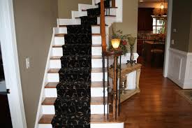 Narrow Stairs Design Contemporary Staircase Design Ideas With Colorful Motive Carpet