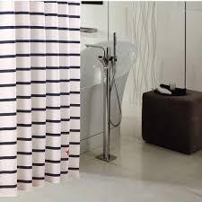 Vertical Striped Shower Curtain Shower Bathroom Vertical Striped Shower Curtains With Curved