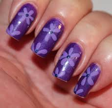 day seven of the seven days of floral nail art tutorials glitter