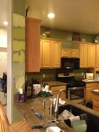 best paint color with honey oak cabinets houzz kitchen