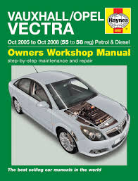 haynes 4887 workshop repair manual vauxhall vectra 05 08 petrol