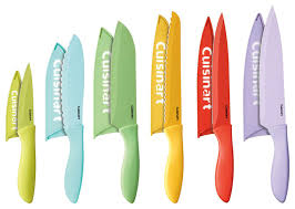 imperial kitchen knives 12 ceramic color knife set with blade guards contemporary