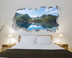 lake mountains wall art moonwallstickers com