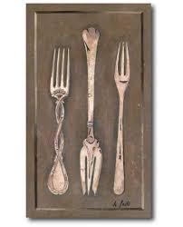 tableau decoration cuisine tableau déco cuisine les couverts tableau de fourchette