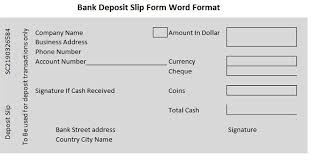bank deposit slip bank deposit slips pinterest bank deposit