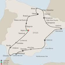 Toledo Map Spanish Guided Tours With Barcelona Madrid U0026 More Globus