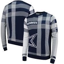 plaid sweater dallas cowboys plaid sweater navy fanatics com