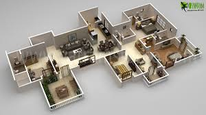 Home Plan Design 4 Bhk Residential 4bhk Floor Plan Design Rendering Yantramstudio