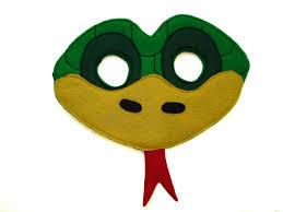 children u0027s green snake felt animal mask