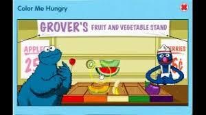 sesame street games color hungry grover u0027s fruit vegetable