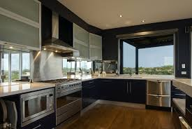 luxury modern kitchen design facade black window for large luxury modern house design with