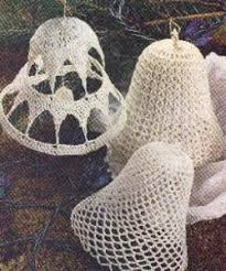 3 lace bell ornaments allfreecrochet