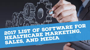 2017 list of software for healthcare marketing sales and media