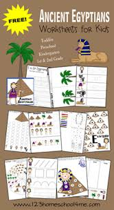 free ancient egypt preschool pack