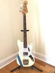 pawn shop mustang bass fender pawn shop mustang bass 2010s olympic white with reverb
