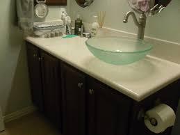Glass Vanity Countertop Bed U0026 Bath Charming Glass Vessel Sink And Cultured Marble Vanity