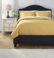 Bedding Ensembles Raleda Yellow Queen Comforter Set Q494003q Bedding