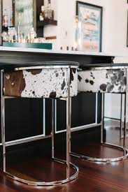 calvin cowhide bar stool steel frame bar stool and stools calvin cowhide bar stool