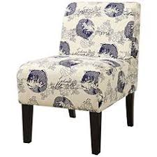 Blue And White Accent Chair Slipper Chairs Seating Lamps Plus