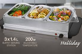 scoopon 3 tray electric buffet food warmer delivered
