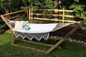 diy custom wood hammock stand u2014 tag u0026 tibby