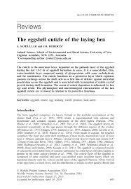 K Hen K N The Eggshell Cuticle Of The Laying Hen Pdf Download Available