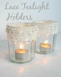 diy lace tealight holders