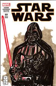 darth vader sketch cover of the star wars tony sedani
