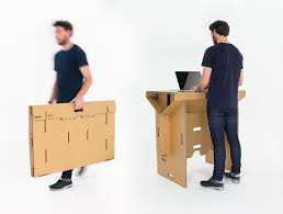 refold cardboard standing desks let you customize your workspace