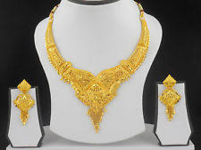 new gold set indian gold plated jewelry set ebay