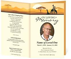 funeral booklet templates word funeral program template