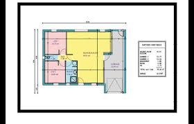 plan maison plein pied 2 chambres garage