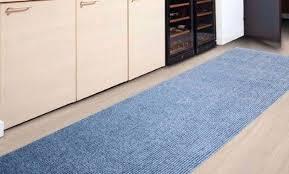 tapis cuisine pas cher tapis de cuisine tapis de cuisine en vinyle 50x120cm bleu tapis