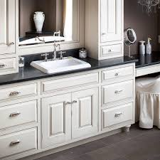 hand crafted custom traditional painted bathroom vanity by two