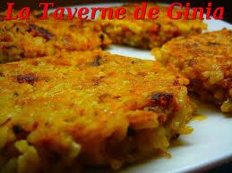 recette riz cuisiné galettes de riz au chorizo et fromage la taverne de ginia