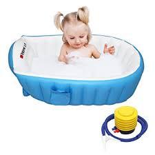 travel bathtub baby amazon com signstek baby infant travel inflatable non slip