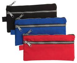 pencil cases 2 x chunky zip pencil cases standard size flat pencil