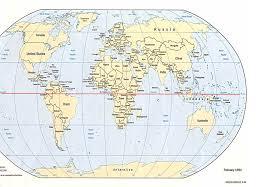 map of equator equator line map