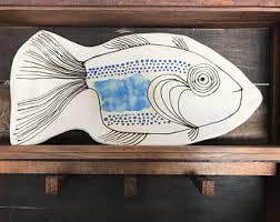 ceramic fish platter ceramic fish platter etsy