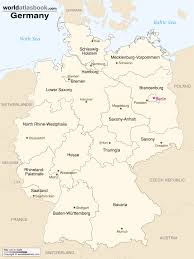 Map Of Europe And Capitals by Map Of Germany With States U0026 Cities World Atlas Book