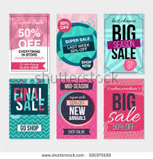 set flat cards stock vector 588233678