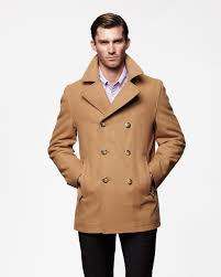houston classic double breasted wool pea coat prezzies
