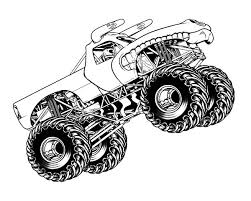 monster jam jumping horned truck coloring pages color luna