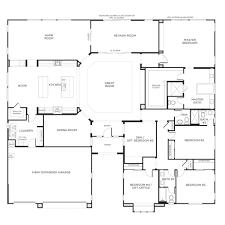 one single story house home floor plans plan weber design group