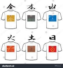 vector tshirt design template chinese characters stock vector