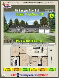 kingsfield all american home ranch hometown collection plan price
