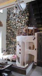 Wohnzimmer Bar Beleuchtet Steinwand Design Holzwand Design Steinstyler Steine An Der Wand