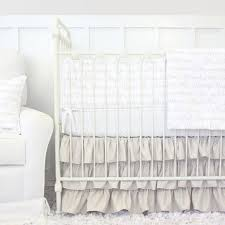 White Crib Set Bedding White Baby Bedding Neutral Crib Bedding Rosenberry Rooms