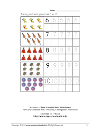 math worksheets for kindergarten and preschool